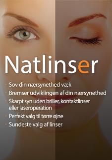 Natlinser. Et stærkt alternativ til almindelige kontaktlinser.