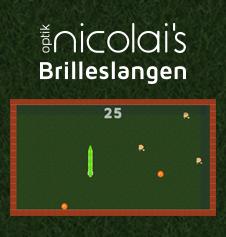 Optik Nicolais, den eneste optiker i Roskilde med sit eget brilleslange spil. Prøv det i dag.